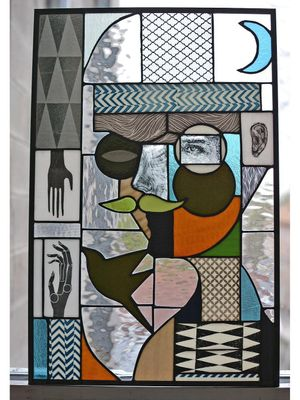 Stained glass by Expanded Eye #ExpandedEye #illustrative #abstract #cubism #geometric #shapes #surreal #color