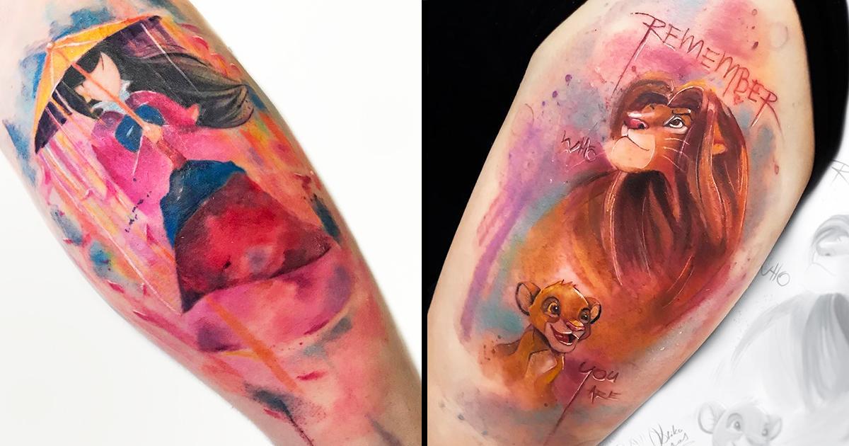20 Tatuagens Aquarela Da Estrela Geek Drikalinas