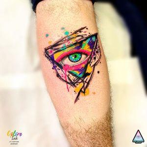 Tatuagem de Eric Skavinsk #EricSkavinsk #colorida #colorful