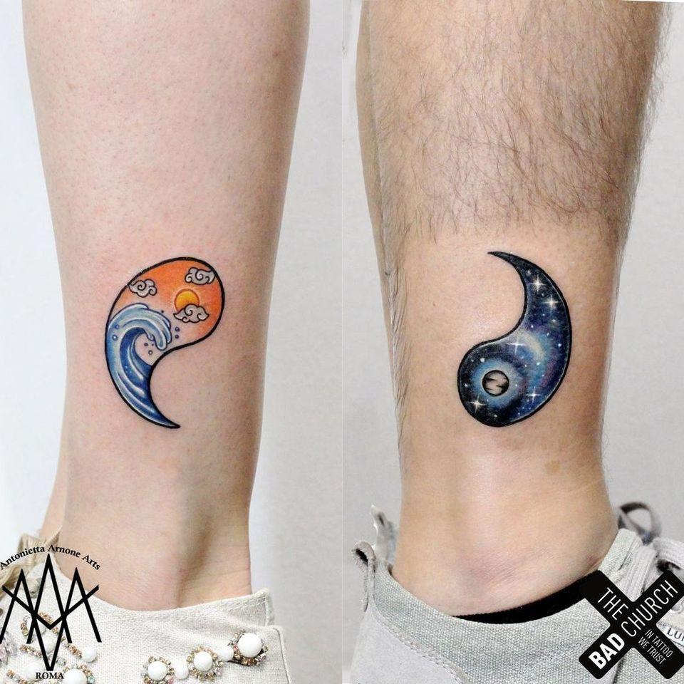 Yin yang tattoo by Antoinetta Arnone #AntoinettaArnone #YinYangtattoos #YinYang #Chinese #symbol