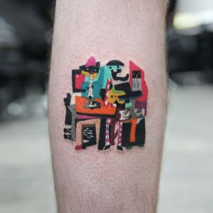 Picasso tattoo by Polyc SJ #PolycSJ #seoul #korea #color #watercolor #popart #newschool #picasso