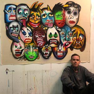 Artista Jeff Sypherd em seu estúdio #JeffSypherd