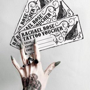 Tattoo voucher by Rachel Rose #RachelRose #supporttattooists #supportartists #tattooart #tattoovoucher #tattoomerch #tattooinspo