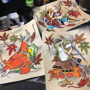 Pinturas de Shaun Topper #ShaunTopper #tattooartistart #tattooart #tattooflash #tattooartwork