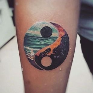 Yin yang tattoo by unknown artist #YinYangtattoos #YinYang #Chinese #symbol