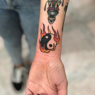Yin yang tattoo by Derek PB #DerekPb