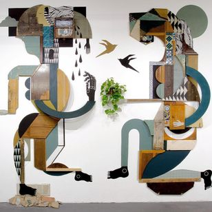 Sculpture by Expanded Eye #ExpandedEye #illustrative #abstract #cubism #geometric #shapes #surreal #color