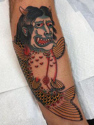 Japanese tattoo by Henbo Henning #HenboHenning #Japanese #Irezumi #Japaneseinspired #yokai #mythologicalcreature
