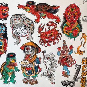 Japanese tattoo flash by Henbo Henning #HenboHenning #Japanese #Irezumi #Japaneseinspired #yokai #mythologicalcreature