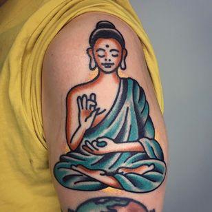 Buddha tattoo by Pavpich #Pavpich #buddhisttattoo #buddhatattoo #buddhism #buddha