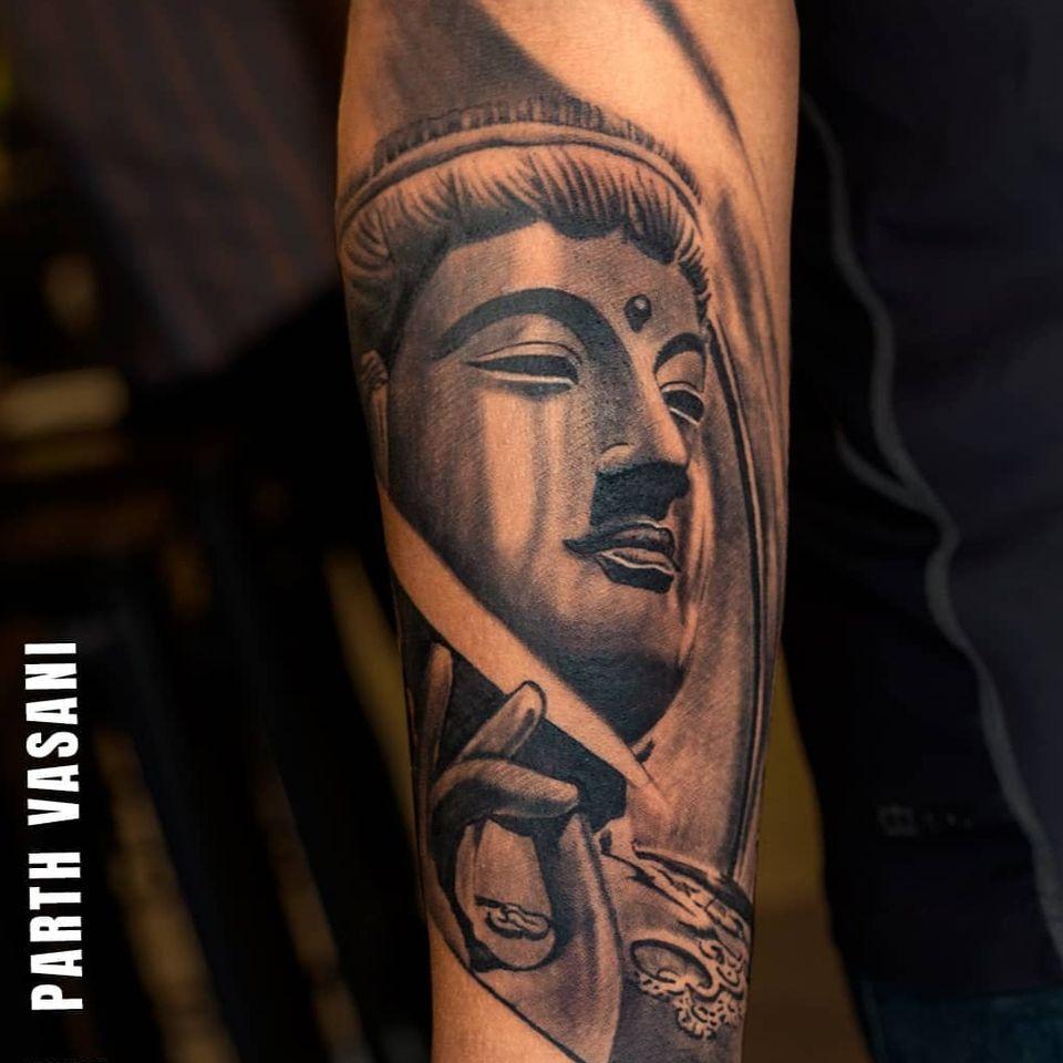 Buddha tattoo by Parth Vasani #ParthVasani #buddhisttattoo #buddhatattoo #buddhism #buddha