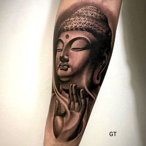 Buddha tattoo by tattoo_ghosted #tattooghosted #buddhisttattoo #buddhatattoo #buddhism #buddha