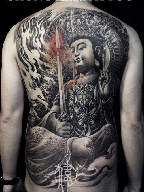 Buddha tattoo by chongweitattoo #chongweitattoo #buddhisttattoo #buddhatattoo #buddhism #buddha