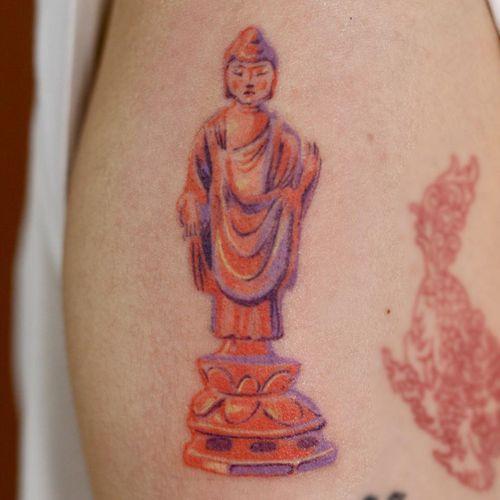 Buddha tattoo by 1sle tattoo #1sletattoo #buddhisttattoo #buddhatattoo #buddhism #buddha