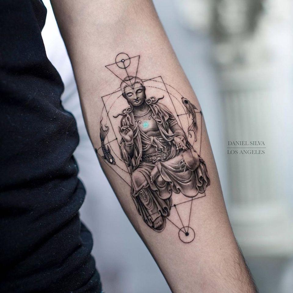 Buddha tattoo by Daniel Silva #DanielSilva #buddhisttattoo #buddhatattoo #buddhism #buddha