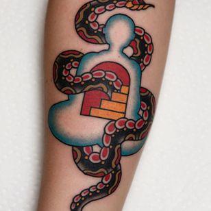 Buddha tattoo by Tony Trustworthy #TonyTrustworthy #buddhisttattoo #buddhatattoo #buddhism #buddha #snake