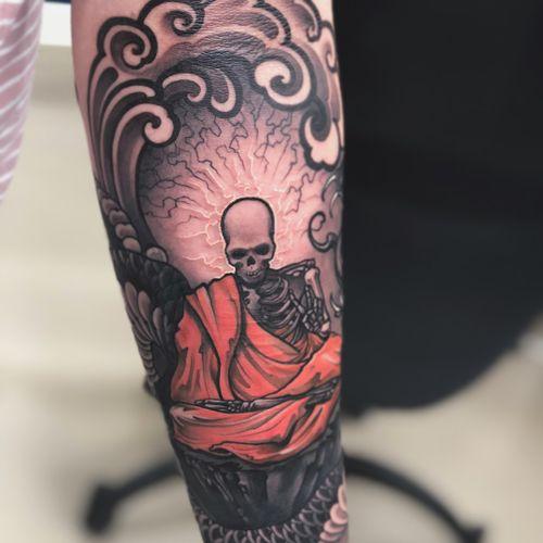 Buddha tattoo by Christopher Henriksen #ChristopherHenriksen #buddhisttattoo #buddhatattoo #buddhism #buddha