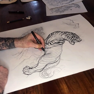 Chris Garver's tiger tutorial