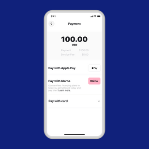 Clients can now finance their payments through Klarna.