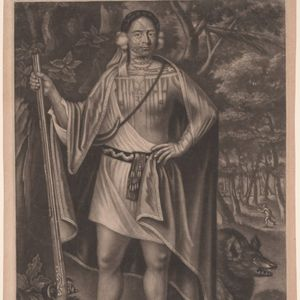 """Mezzotint of the late 17th-early 18th century Iroquois/Algonquian leaders known at the time as the """"Four Indian Kings"""" including Sa Ga Yeath Qua Pieth Tow (below). Link: https://www.si.edu/object/npg_NPG.74.22 (via Anna Felicity Friedman aka tattoohistori"""