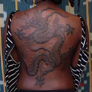 Dragon tattoo by Victor J Webster #VictorJWebster #dragon #illustrative #japanese #japaneseinspired