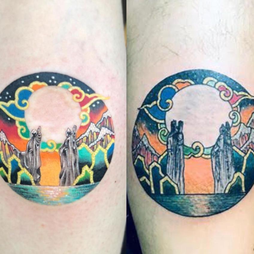Original tattoo on the left by Pitta Kkm and tattoo on the right by a copycat tattooist #copycattattoo #copyingtattoos #pittakkm
