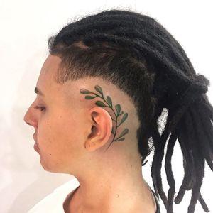 Plant tattoo by Hellen Zumbi #HellenZumbi #illustrative #linework #dotwork #nature #organic #braziltattoo