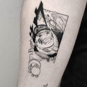 Naruto tattoo by Yokai Hermit #YokaiHermit #anime #manga #fineline #illustrative #japaneseinfluenced #naruto