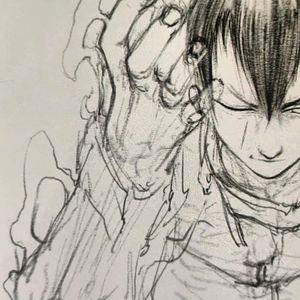 Manga sketch by Yokai Hermit #YokaiHermit #anime #manga #fineline #illustrative #japaneseinfluenced