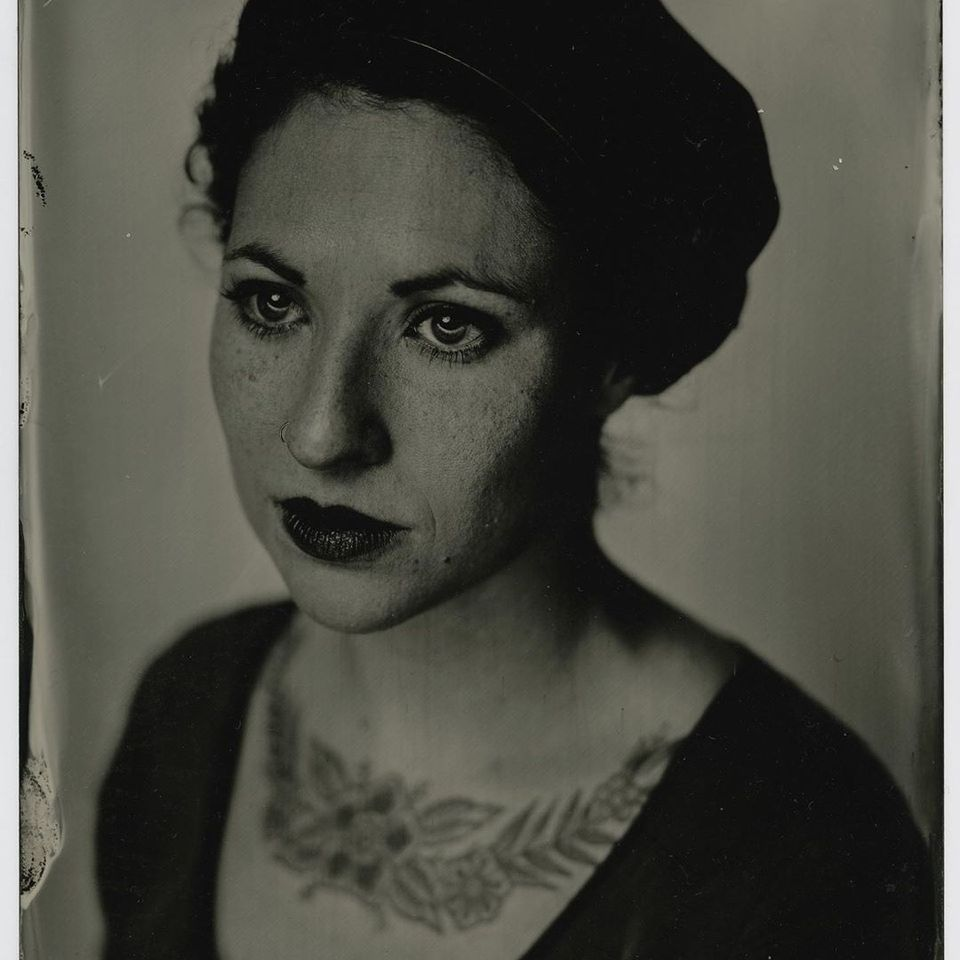 Tintype portrait of Helena Front by Don Sixpack #HelenaFront #DonSixpack #tintype