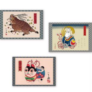 Postcards by Ichi Hatano #IchiHatano #Japanese #Irezumi #dragons