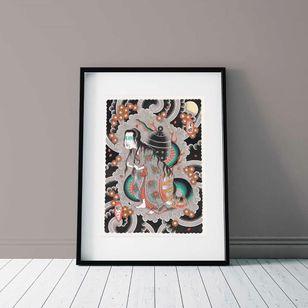 Kiyohime by Ichi Hatano #IchiHatano #Japanese #Irezumi #dragons