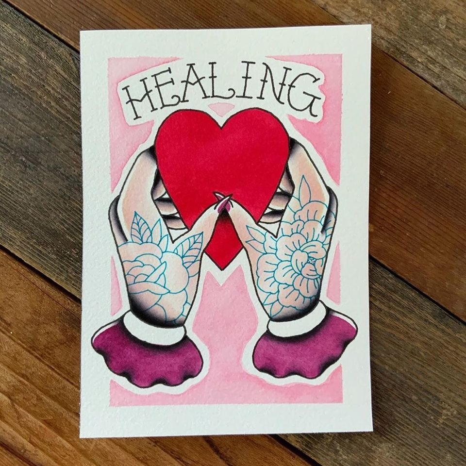 tattoo flash by chateff #chateff #stillnotaskingforit #healing #heart