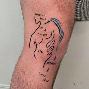 Expressionist tattoo by Ori Vishnia #OriVishnia #quote #watercolor #abstract #body #sexualassaultawarenesstattoo #sexualassaultsurvivortattoo #survivortattoo #tattoosforstrength #selflove #empoweringtattoos