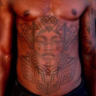 African warrior tattoo by Anderson Luna #AndersonLuna #warrior #symboltattoo #africatattoo #african #tribal #portrait #pattern