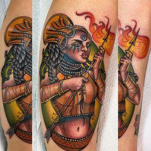 African warrior tattoo by Guen Douglas #GuenDouglas #warrior #africatattoo #african #portrait