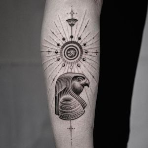 Horus tattoo by kiljun #kiljun #horus #blackandgrey #eye #egypt #africa #pattern #fineline #detailed