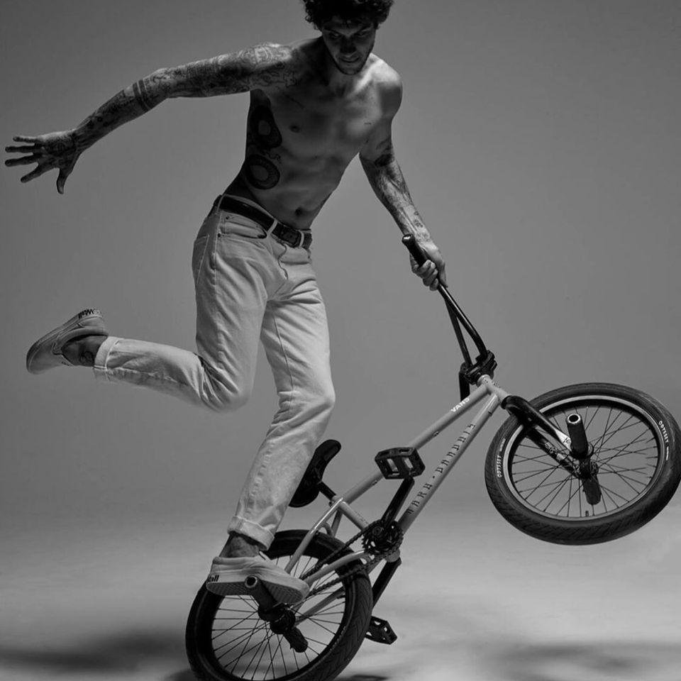 Matthias Dandois - photo by Mark Seliger #MatthiasDandois #bmx #tattoocollector