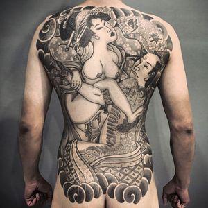 Shunga tattoo by diaoshane #diaoshane #shungatattoo #shunga #erotictattoo #erotic #nsfw #japanesetattoo #japaneseinspired
