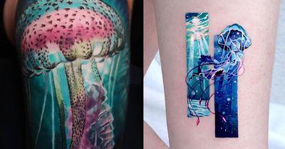 Vibrant Jellyfish Tattoos