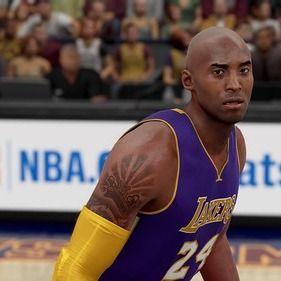 Screenshot of tattoos in an NBA video game