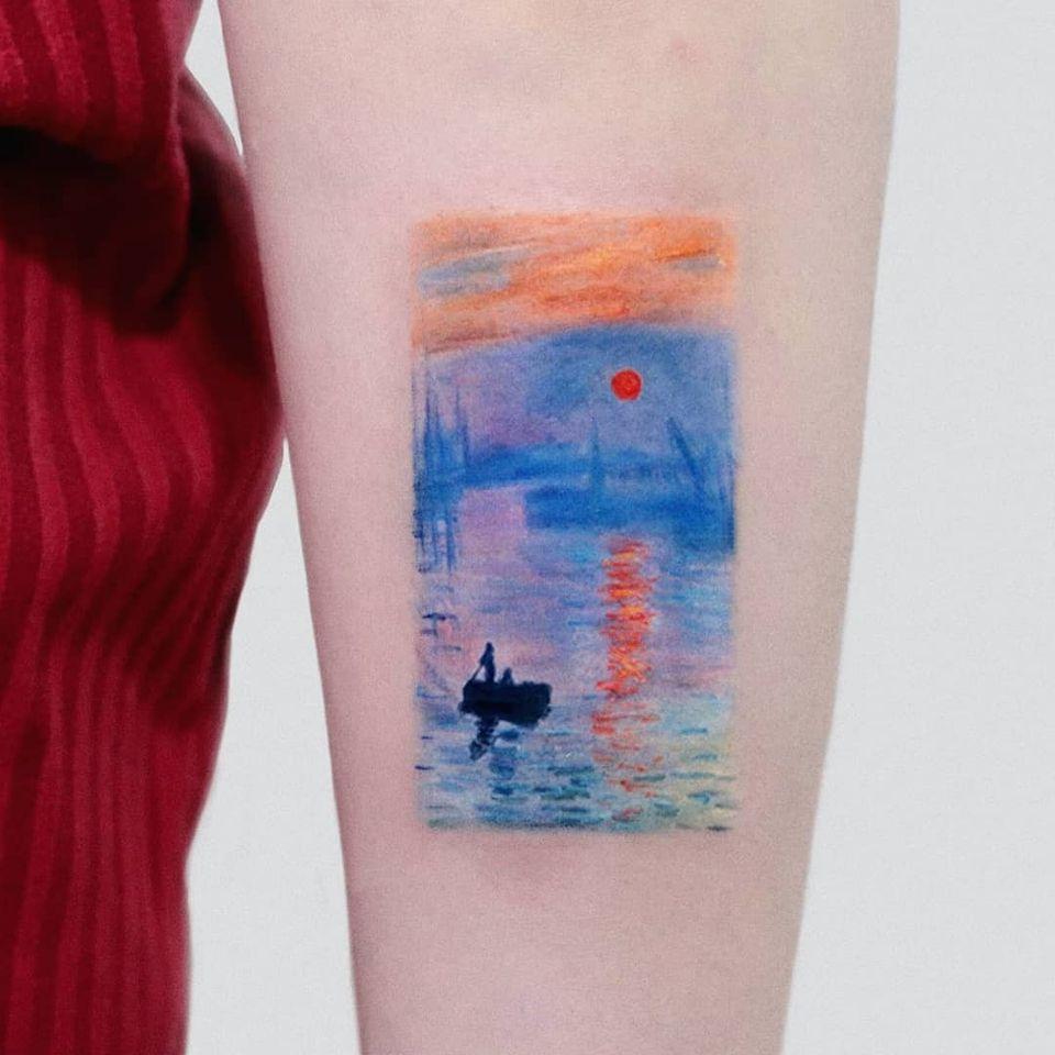 Van Gogh tattoo by Hakan Adik #HakanAdik #VanGogh