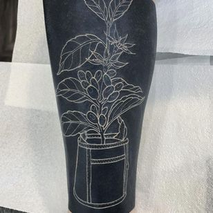 White Ink over Blackwork Tattoo by andy mc art #andymcart #whiteinkoverblackwork #whiteinkonblacktattoo #whiteonblack #whiteink #blackwork #blackout