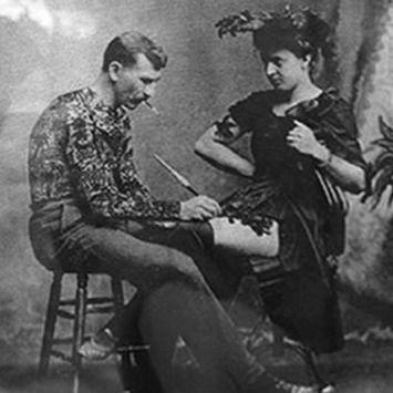 Gus tattooing Maud