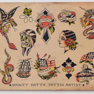Dainy Dotty tattoo flash