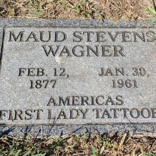 Maud Wagner's grave in Cedar Point, Kansas