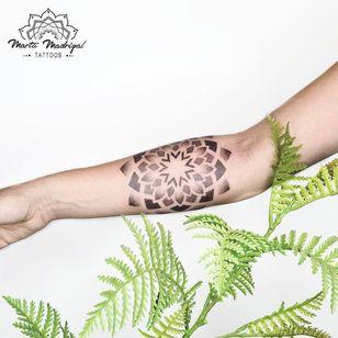 Tattoo by Marta Madrigal #MartaMadrigal #fineline #dotwork #illustrative #mandala #sacredgeometry #shapes