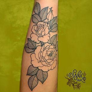 Tattoo by Debbi Snax #DebbiSnax #illustrative #rose #flower #plant #nature