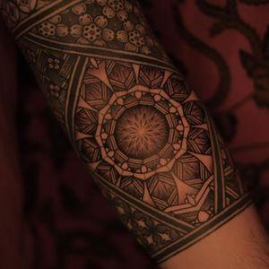 Tattoo by Jaya Suartika aka Jayaism #JayaSuartika #Jayaism #patternwork #pattern #tribal #ornamental #blackwork #geometric #mandala #sacredgeometry #linework #dotwork