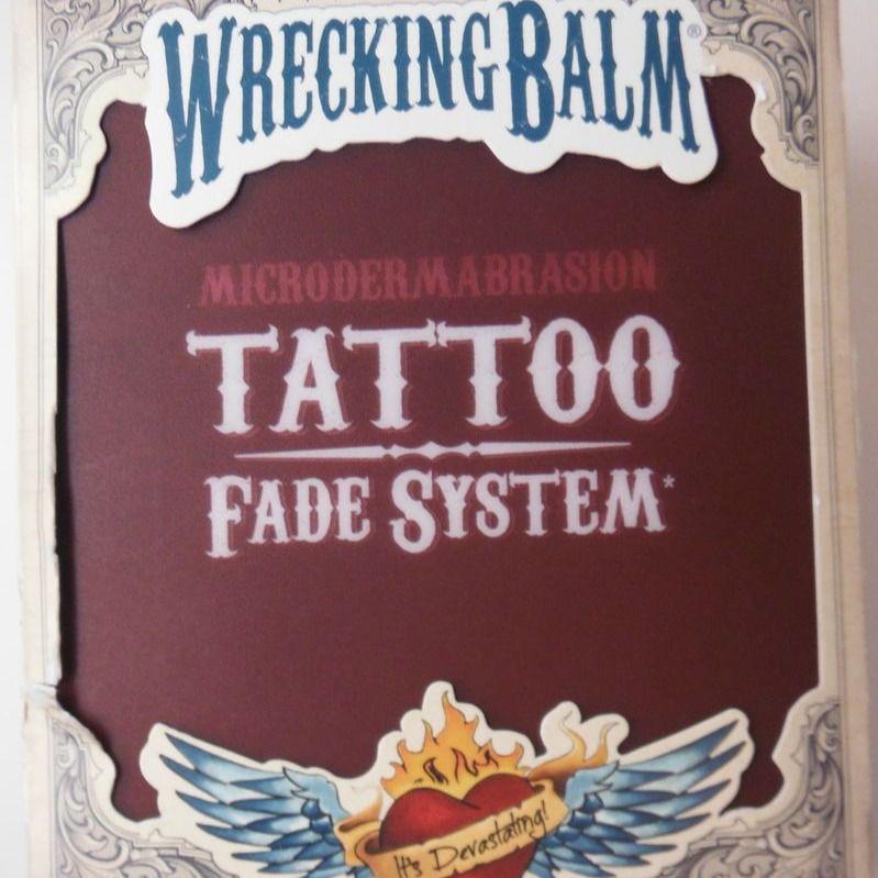 Wrecking Balm Tattoo Fade System #tattooremovalcream #tattooremoval